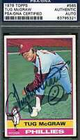 Tug Mcgraw Psa/dna Signed 1976 Topps Authenticated Autograph