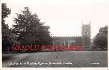 Cambridgeshire - BOXWORTH, St. Peter's Church from Rectory. Real Photo Postcard.