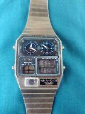 2 X RARE VINTAGE CITIZEN ANA-DIGI TEMP DIGITAL WATCHES RARE 1980's VINTAGE WATCH