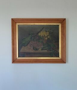 Guan Zilan (关紫兰1903 -1986) Chinese Artist Oil Painting Signed