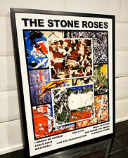 More details for the stone roses - unique singles art framed poster - free p&p