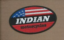 42NEW 2 3/8 X 4 1/8 INCH INDIAN MOTORCYCLE USA IRON ON PATCH FREE SHIPPING