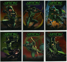 "Arrow Season 1 ~ ""COMIC COVERS"" CRYPTOMIUM FOIL VARIANT INSERT SET (CCC1-CCC6)"