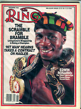 The Ring Boxing Magazine September 1984 Edwin Rosario EX 060616jhe