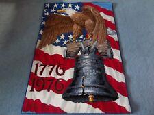 American Wall Rug Alexander Smith Carpet Bicentennial Bald Eagle 55x36 Euc