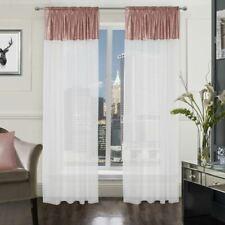 Charlie Sequin Voile Slot Top Net Curtain Panel (Pair) - Various Colours