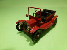 LESNEY YESTERYEAR Y1 FORD MODEL T - RED 1:64 - VERY GOOD CONDITION