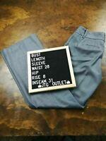 Women's Banana Republic Jackson Fit Size 0 Pinstripe Gray Grey Dress Pants