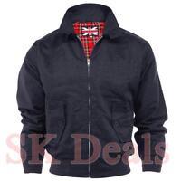 Men's Classic Harrington Vintage Retro Bomber Jacket Size S M L XL XXL