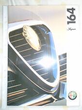 Alfa Romeo 164 Super brochure Feb 1993