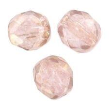 50 Perles Facettes cristal boheme 4mm - ROSALINE LUSTER