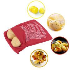 Potato Handmade Embroidered Microwave Baked Washable Cotton Fabric Bag Reusable