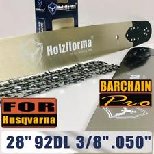 "28"" Guide Bar Saw Chain 92DL 3/8"" .050"" F Husqvarna 390 394 395 480 562 570 575"