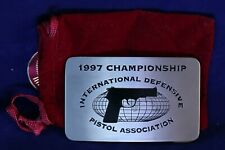 1997 Championship belt buckle International Defensive Pistol Association