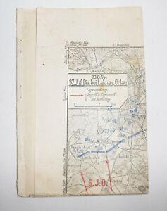 Landkarten Sammlung 37 IR Gefechte Ostpreußen Narew Njemen Allenstein 1 Wk ! (D8