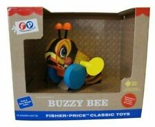 Fisher Classic Bouncy Bee Toddler Plastic Reproduction Pull Toy 18m