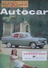 Autocar magazine 18/2/1966 featuring SAAB 96, Triumph, Hillman Minx road test