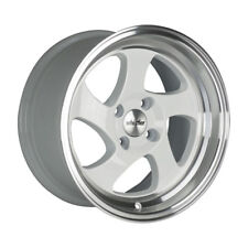 16x8 Whistler Rims KR1 4x100 WHITE MACHINED FACE Wheels (Set of 4)