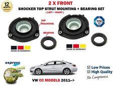 FOR VW CC 358 MODELS 2011--> 2X FRONT SHOCKER TOP STRUT MOUNTINGS + BEARING