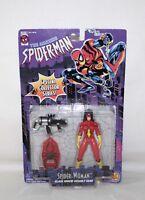 "1996 Marvel Comics Spiderman ""SPIDER-WOMAN Black Widow"" Action Figure Sealed IOP"