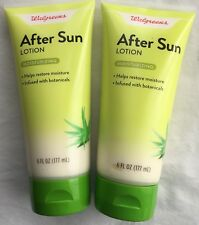Walgreens After Sun Lotion Moisturizing Infused with Botanicals 6 oz Lot of 2