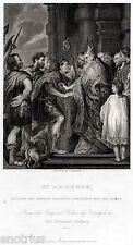 Milano: Sant'Ambrogio e l'inperatore Teodosio. Dottore della Chiesa.ACCIAIO.1844
