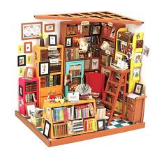 Robotime DIY House Books Woodcraft Construction Kit Handmade Dollhouse with Led