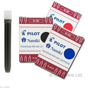 Pilot / Namiki Fountain Pen Ink Cartridges IC 50 - All Colours Available