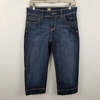 Kut From The Kloth Womens Capri Cropped Dark Wash Blue Jeans Size 6