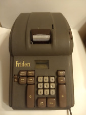 Vintage - FRIDEN  Electronic Calculator Green/Brown - Tested ***Note: below***