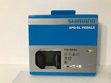 NEW Shimano PD-R540 Aluminum SPD-SL Road Pedal Set w/ SM-SH11 Cleats - Black