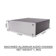 1PCS AUDIO CHASSIS Aluminum Headphone Amplifier DAC Preamplifier Desktop AMP DIY