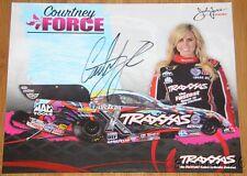 2015 Courtney Force signed Traxxas Chevy Camaro Funny Car NHRA postcard