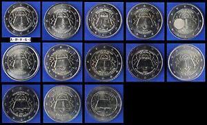 2 EUROS CONMEMORATIVA - 50 Anos Tratado Roma - Todos los Países Disponibles