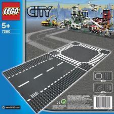 LEGO CITY 5-12 ANNI STRAIGHT & CROSSROAD PLATE STRADA RETTILINEO E INCROCIO 7280