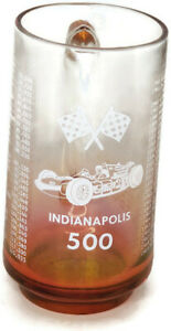 Vintage Indianapolis 500 1911-1969 Winners Red To Clear Glass Mug Mario Andretti