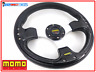 BLACK MOMO DEEP DISH DRIFTING TRACK CAR STEERING WHEEL Race Sports Drift Rally !