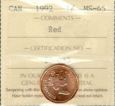FULL RED LUSTRE!!!! 1992 BU Canada Small Cent from ORIGINAL MINT ROLL