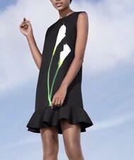Victoria Beckham for Target Women's Black Calla Lily Ruffle Hem Dress XS NWT