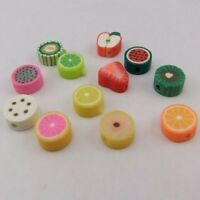 01472 Mixed color fimo fruit  beads bracelet finding 80pcs