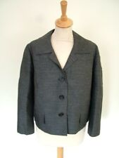 Vintage 50s 60s Cassler Couture Mayfair grey wool box jacket, M 12 14