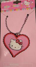 "Sanrio Hello Kitty Charm Necklace EMO PUNK  Easter Birthday 2""w1 3/4""t Alter Art"