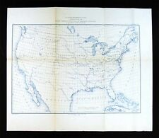 1881 US Coast Survey Map - United States Chart of Magnetic Stations - Geodetric
