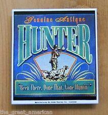 Ande Rooney Aintique Hunter Gone Huntin Porcelain Steel Magnet new Made in USA