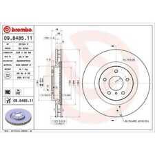BREMBO 2x Bremsscheiben Innenbelüftet beschichtet 09.8485.11