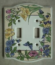 Santa Barbara Ceramic Design - Double Switch Plate Cover - Garden/Flower/Insect