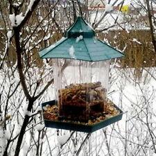 HANGING BIRD FEEDER SEEDS PEANUT FOOD CONTAINER OUTDOOR YARD FEEDING TOOL GREEN