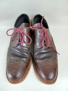 Clarks Leather Brogues  - In Brown - Size 7