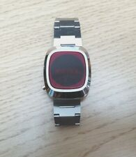 Vintage retro Commodore Time Master LED digital watch. 1975. Made in France.