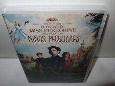 el hogar de miss peregrine para niños peculiares - tim burton -  dvd